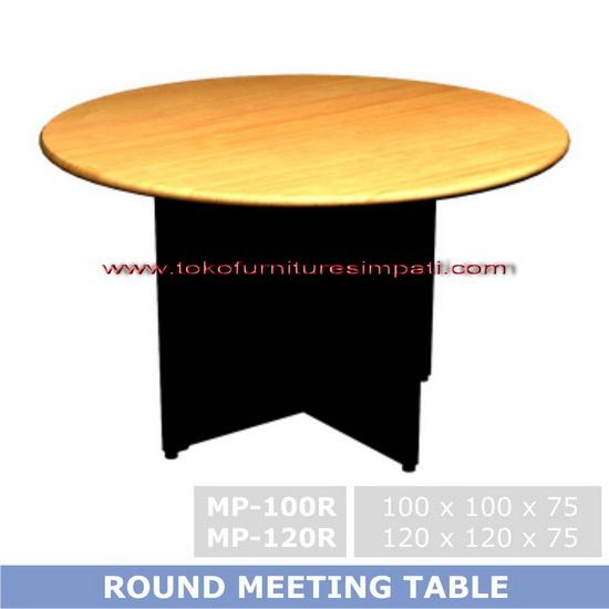meja rapat bulat