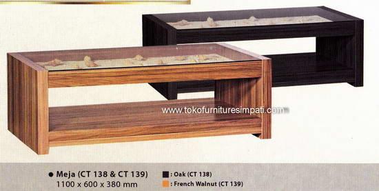 meja tamu kerang